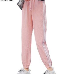 Pants - Pink striped joggers